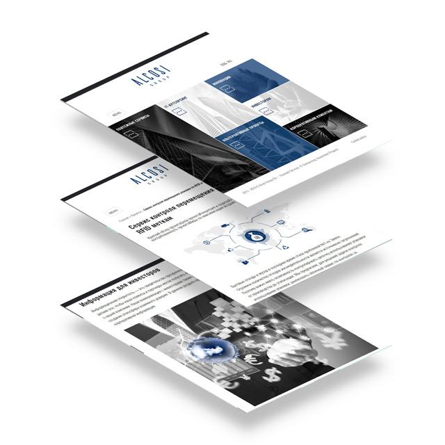 Дизайн сайта alcosi.ee