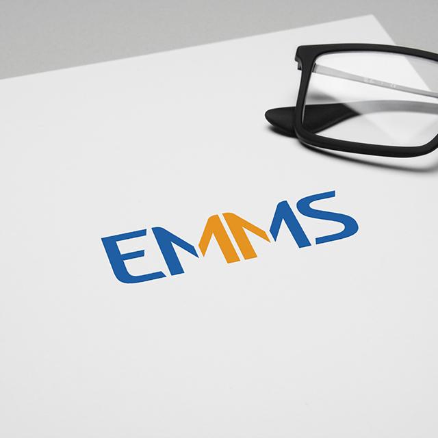 Разработка логотипа EMMS и элементов фирменного стиля